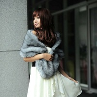 2013 sweet bride bridesmaid dress faux fur shawl PC72