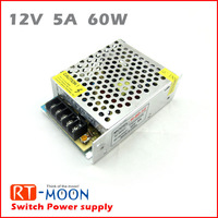 60W 12V 5A Switching Power Supply, Adapter a lot for led strip ,led lighting project Transformers in steel box Free ship