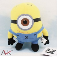 "Free Shipping EMS 30/Lot 6"" Cute 2D Eyes Despicable Me Minions Plush Toys Stuffed Animal Doll Wholesale"