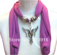Alloy butterfly design Accessories Necklace pendant scarf,2 Colors effective choose,size 180*50cm,Free Shipping