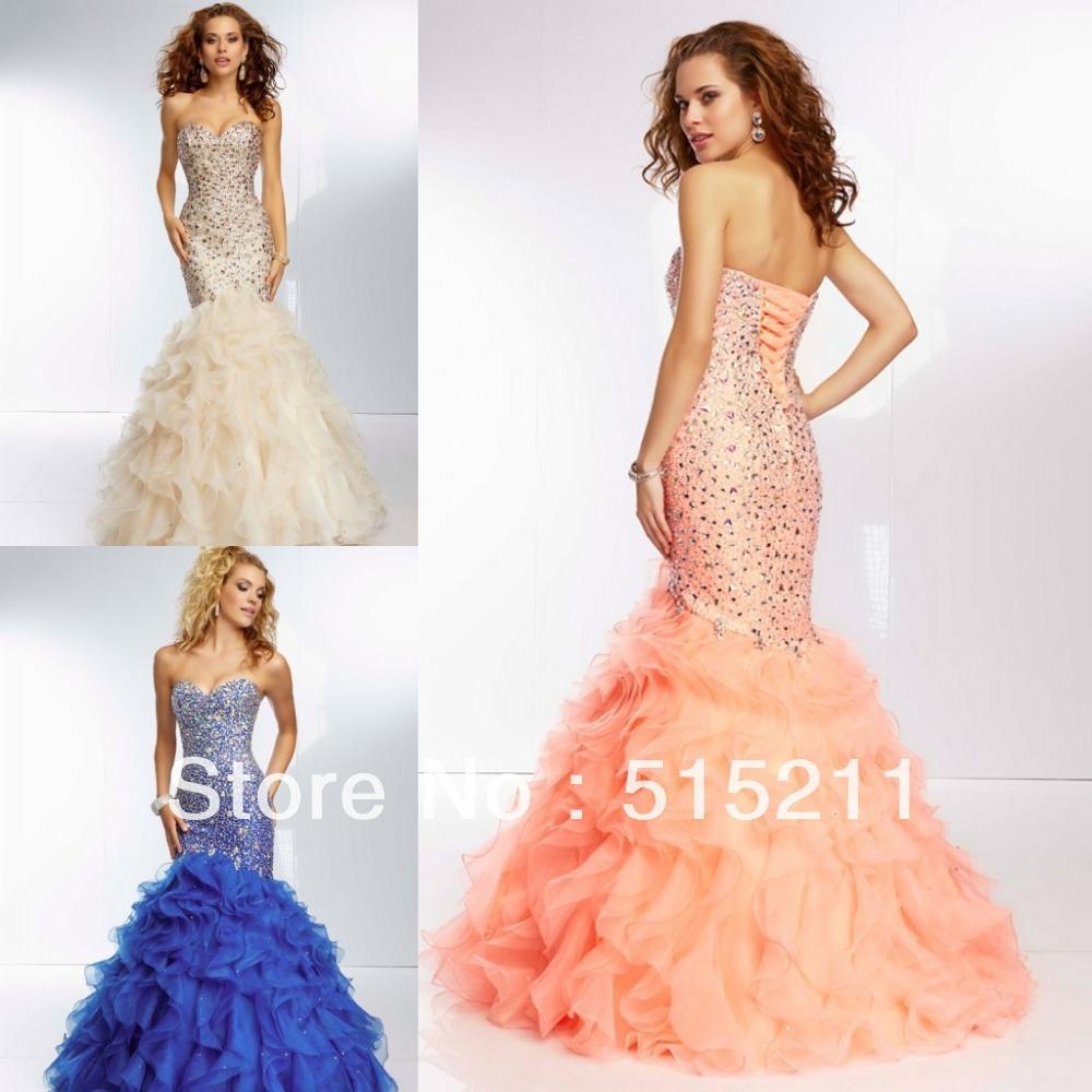 Ruffle Mermaid Prom Dress Mermaid-prom-dresses