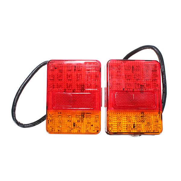 2x 12V 30 LED Stop Tail Lights Lamp Indicator Trailer Truck Caravan Ute 120x90mm Free shipping(China (Mainland))