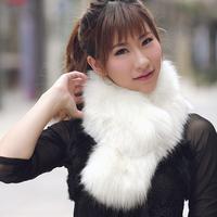 Fox fur collar the son muffler scarf faux scarf raccoon fur cap of cape winter female,made in china.