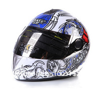 Free shipping 2013 Motorcycle Helmet Classic Full Face Helmet motorcycle helmet Y-Blue & White