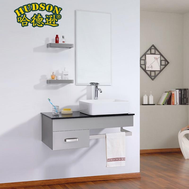 Stainless steel bathroom cabinet basin combination wash basin cabinet combination bathroom cabinet wash basin cabinet(China (Mainland))