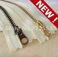 free shipping YKK zipper 5 # Golden copper green bronze pull head gear cute