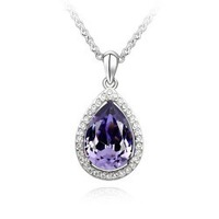For nec  klace pendant female accessories all-match austria crystal necklace -