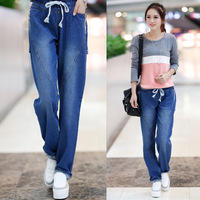 Kz596 2013 autumn and winter women autumn casual straight all-match plus size jeans female trousers  Free Shipping
