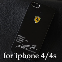 1pcs new arrive aluminum luxury bling famous car logo brushed metal case for iphone 4 4s