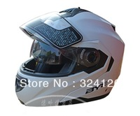 Free shipping, Genuine European brand motorcycle helmet dual lens car racing full-face helmet Flip, white