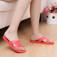 Summer pockmark cross slip-resistant bathroom slippers household slippers lovers soft outsole indoor floor slippers