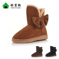2013 snow boots slip-resistant thermal slippers flat heel platform medium-leg boots winter boots cotton-padded shoes wool boots