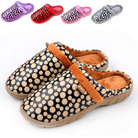 Dot down fabric platform cotton-padded winter slippers lovers slippers home shoes warm shoes