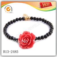 Fashion womens' coral rose flower bracelet Wholesale 2013 50pcs/lot