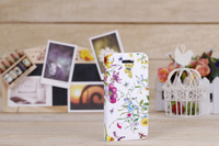 Free Shipping transverse pattern PU leather sheath phone Case Hot Fashion Cover For IPHONE 5 white 1 color