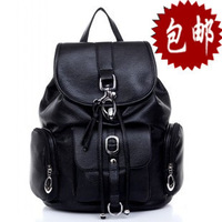 Backpack female preppy style casual backpack leather vintage travel bag school bag women's handbag bags