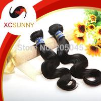 XCSUNNY 5A Unprocessed 12-26 inch 2pcs Body Wave100% Malaysian Virgin Remy Human Hair Weft Weave 100g/pcs MVH016