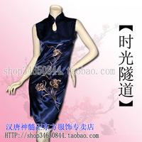 Han silk print short flag drip fw010038-n tang suit formal dress women's short skirt