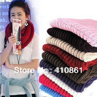 197 197 free shipping 2013 women men new fashion 9 colors autumn winter knitted woolen scarf single-circle muffler scarves wraps