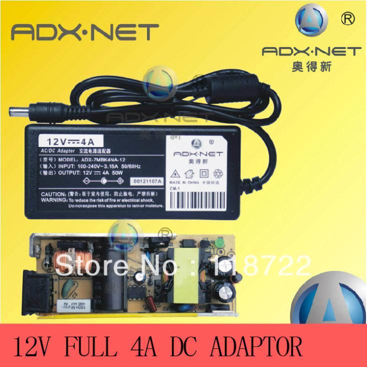 ADX-7MBK4NA-12 Power adaptor AC 100-240V to DC 12V 4A Power Supply Adapter UK,US,EU,AU plug,New lcd adapter,12V4A FULL AMPERE(China (Mainland))