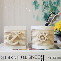 Fashion home decoration wooden hand-woven cotton rope pen decoration pen 2  as Christmas/Birthday gift Free shipping