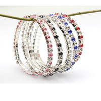 Free shipping factory wholesale fashion fashion colors Square Crystal Bracelet -081 single row