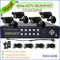 Dropshipping& Free Shipping 4CHS CCTV Camera DVR Kit, 420TVL SONY CCD 20M IR Waterproof CCTV Camera DIY Camera System