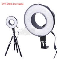 Falconeyes LED ring light DV camera fill light DVR-240D (dimmable) free shipping P0083