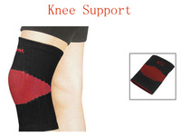 Protective Black Red Pinstripe Stretchy Knee Support Brace 2pcs