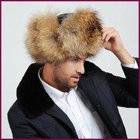 Raccoon hats leather strawhat thermal cotton cap lei feng cap Men cap male hat