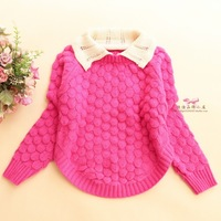 Children's clothing autumn and winter 2013 child sweater female child sheep cashmere wool knitted pullover sweater