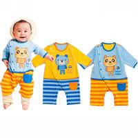 Free Shipping Baby Girls Boys [Blush] Romper New Fall Cartoon Printed Cotton Jumpsuit Climb Clothing Sets 6pcs/lot  H101
