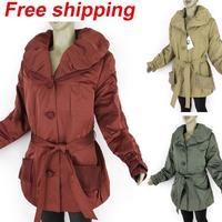 Hot 3 color Women Faux Fur Thicken Winter Warm Long Coat Parkas Jacket Beam Waist Clothes With Cap Plus Size free shipping 8810C