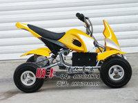 Electric mini 49cc small four-wheel off-road atv buck yellow