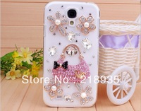 Pearl Sachet Fragrance rhinestone hard pc cases for samsung s4 i9500 i9508