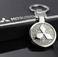 Free shipping Mitsubishi Motors high-grade aluminum alloy drill LOGO keychain car keychain gift