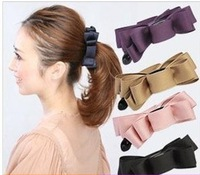2013 Women Fashion  Hair Accessory Solid Color Bow Clip Sweet Hairpin