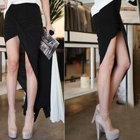Elegant women's 2013 summer irregular sweep slim high waist bag basic skirt bust skirt