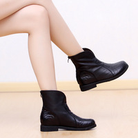 Flat heel casual boots martin boots thermal full velvet winter boots women's shoes
