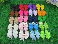 Wholesale bows 50pcs/lot, baby ribbon bows WITHCLIP, Baby Boutique hair bows ,Hairclips,Girls' hair accessories,free shipping