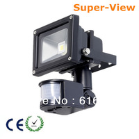 Free shipping 10W LED Floodlight Flood Lamp PIR Motion Sensor Outdoor Motion Sensor Light 85V-265V