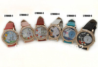 Hot new cartoon series of casual fashion quartz watches, leather band watch students of both sexes, free shipping