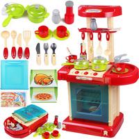 Child toy musical kitchen toys sooktops dinnerware set