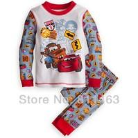 6 sets/lot children boys long sleeve car clothing set # X-045 / kids pajamas / baby spring autumn homewear