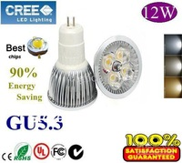 Home Garden High Power GU5.3 12W LED lighting Spotlight led bulbs led lamp 85-265V free shipping