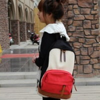 Multicolour japan sweet backpack canvas backpack general student school bag