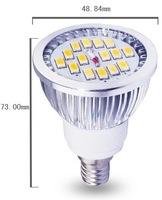 Free shipping 6PCS A LOT   Ultra Bright 6W E14 5630 SMD Led Bulb Spotlight  AC85-265V CE/RoHS Warm/Cool White 2 Years Warranty