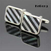HOT  Fashion Men's shirt cufflink shell cuff with box men's gift bk-02 Free shipping