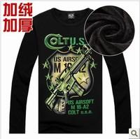 Hot Sale Men's Gun Pullovers 3d sweatshirts Hip Hop Sweatshirt Men Large Size Hoodies Thicken Fleece Winter Warm Sweatshirt
