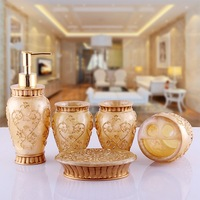 Luxury Bathroom Sets Home Product  5 pcs  of  resin  accessories kit   home supplies    fashion   Christmas gift Wedding